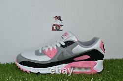 New Nike Air Max 90 Size 9.5 White Grey Rose Pink Black CD0881-101
