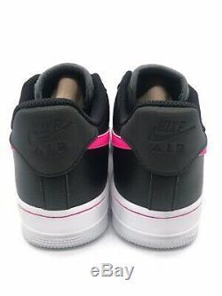New Womens Nike Air Force 1 Low Black Pink Blast Dark Grey CJ9699 001 Size 7.5