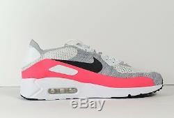 Nike AirMax 90 Ultra 2.0 Flyknit ID White Pink Gray Black New Custom Sz 13