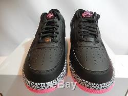 Nike Air Force 1 Black-hyper Pink-wolf Grey Sz 11 Rare Elephant! 488298-063