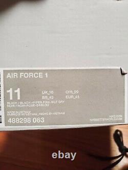 Nike Air Force 1 ELEPHANT PRINT SUPREME BLACK HYPER PINK GREY SIZE 11