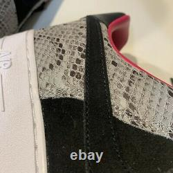 Nike Air Force 1 Low ID Snakeskin CT3761 991 Size 10 Pink black grey