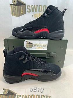 Nike Air Jordan 12 XII Retro SZ 5Y Black Dark Grey Rush Pink GS 510815-006