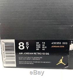 Nike Air Jordan 13 XIII Retro GG Black Anthracite Grey Pink 439358-009 8.5Y