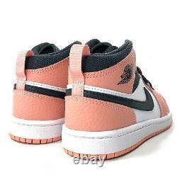 Nike Air Jordan 1 Mid PS Pink Quartz Smoke Grey White Black 640737-603 12C