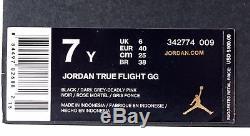 Nike Air Jordan True Flight GG Black Dark Grey Deadly Pink 342774-009 $100 KE