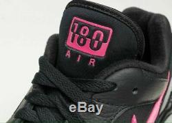 Nike Air Max 180 AQ9974 001 Black/Pink Blast-Wolf Grey Men's shoes MRSP $140