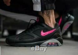 Nike Air Max 180 AQ9974 001 Black/Pink Blast-Wolf Grey Men's shoes Sz 10