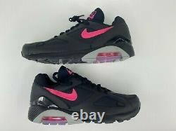 Nike Air Max 180 Black Pink Wolf Grey Blast Men's Size 9.5 AQ9974-001 New