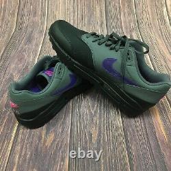Nike Air Max 1 Black Grey Fierce Purple Pink AR1249-002 Men's Size 10 Rare
