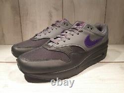 Nike Air Max 1 Miami Nights Black Grey Purple Pink AR1249-002 Men's Size 10.5