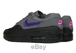 Nike Air Max 1 Miami Nights Black Grey Purple Pink AR1249-002 Men's Size us 10.5