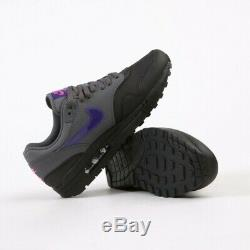 Nike Air Max 1 Miami Nights Black Grey Purple Pink AR1249-002 Men's Size us 12