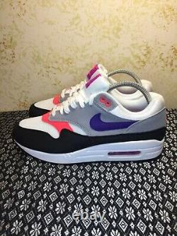 Nike Air Max 1 WMNS Raptors Black Purple Grey Womens Size 9 319986-114