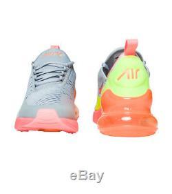 Nike Air Max 270 GS GREY PINK GREEN BLACK WHITE 943345-006 sz 6Y Youth Kids