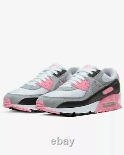 Nike Air Max 90 Recraft Cd0881 101 White, Rose Pink, Grey, Black Uk 7, 8