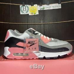 Nike Air Max 90 Recraft Rose Size 11 White Particle Grey Black Pink CD0881-101
