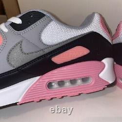 Nike Air Max 90 Recraft Rose White Pink Particle Grey Black CD0881-101 Size 15