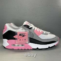 Nike Air Max 90 Recraft Rose White Pink Particle Grey Black CD0881-101 Sz 12 New
