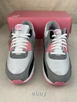 Nike Air Max 90 Recraft Rose White Pink Particle Grey Black OG CD0881-101 Sz 13