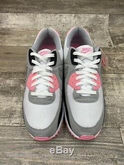 Nike Air Max 90 Recraft Rose White Pink Particle Grey Black OG CD0881-101 Sz 14