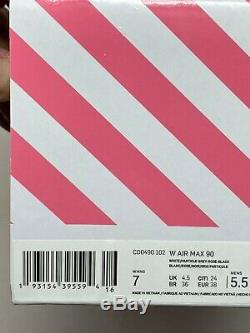 Nike Air Max 90 Women's Size 7 NO BOX TOP CD0490-102 White grey Pink Black