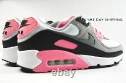 Nike Air Max 90 (Womens Size 7) Shoes CD0490 102 White Grey Black Rose Pink