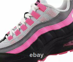 Nike Air Max 95 GS Pink White Black Grey Kids Youth Shoes Sz 7Y (905348-030)