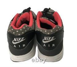 Nike Air Max Mens 1 LTR Premium Shoes 705282-002 Polka Dot Gray Black Pink US 13