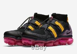 Nike Air Max Vapormax Flyknit Utility BLACK GREY GRIDIRON PINK BLAST AH6834-006