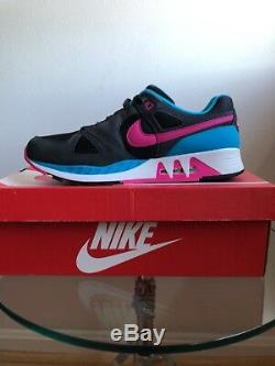 Nike Air Stab Black Hot Pink Anthracite Grey Blue Lagoon White 312451-004 Ds 11