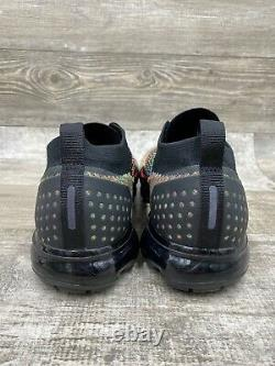 Nike Air VaporMax Flyknit 2 Black MultiColor Pink Grey 2018 Size 11.5 942842017