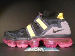 Nike Air Vapormax Fk Utility Flyknit Sample Black Gridiron Pink Grey Yellow Og 9