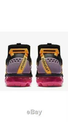 Nike Air Vapormax Flyknit Utility Black Grey Yellow Pink AH6834-006 Men's 10