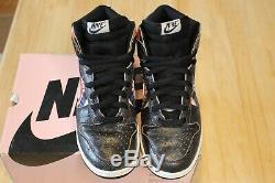 Nike Dunk High Pro SB HUF White Neutral Grey Black 305050 102 Size 10 Pink Box