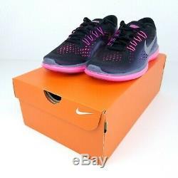 Nike Flex 2017 RN Black Metallic Grey Pink Women Running Shoes 898476 009 Sz
