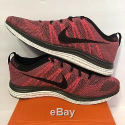 Nike Flyknit One+ 1 I PINK Air Max DS 554887-600 sz 10 NIB Black Fog Grey