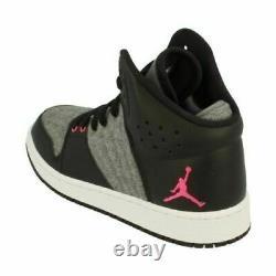 Nike Jordan 1 Flight 4 Prem Gg Size 6 Eur 40 (828245 019) Black/ Grey/ Pink