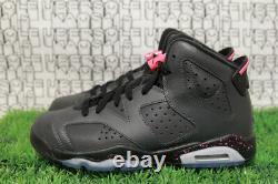 Nike Jordan 6 BLACK/PINK/GREY Retro 1 travis 543390 008 YOUTH GS 6.5Y, WMN 8