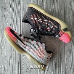 Nike Kobe Elite X 10 Low Mambacurial 2015 Black Grey Pink 7447212-010 Sz 9.5