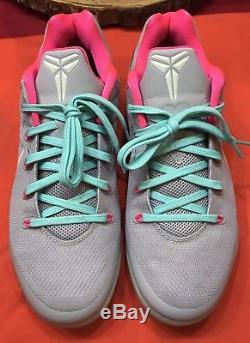 Nike Kobe IX 9 Low ID Grey Pink Black South Beach Elite What The 688501-991 z 10