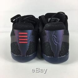 Nike Kobe XI 11 Invisibility Cloak Black Wolf Grey Pink Shoes Size 8 836183 005