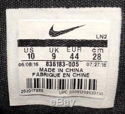 Nike Kobe XI 11 Low Black Grey Pink Flash Invisibility Cloak 836183-005 Sz 10