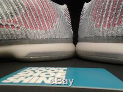 Nike Kobe X 10 Elite Low Mambacurial Black Wolf Grey Pink Flash 747212-010 11.5