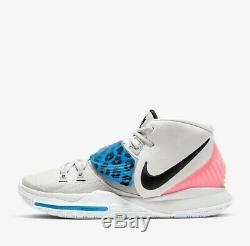 Nike Kyrie 6 Irving VI Vast Grey/Pink/Black Size 13 Sneakers