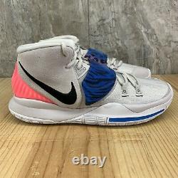 Nike Kyrie 6 VI Size 10 Mens Vast Grey Soar Digital Pink Black Basketball Shoes