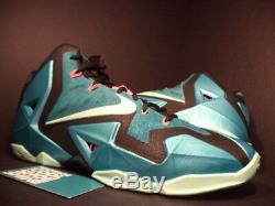 Nike LEBRON XI 11 SOUTH BEACH TURQUOISE GREEN MINT BLACK PINK GREY 616175-330 14