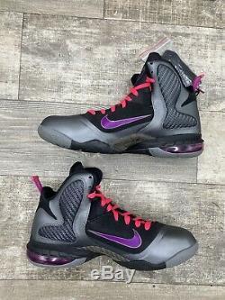Nike LeBron James 9 IX Miami Night 469764-002 Black Grey Gray Pink Graphite 10