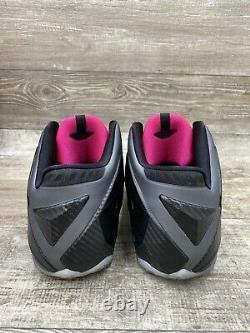 Nike Lebron 11 XI Miami Nights Black Graphite Grey Pink Silver 616175-003 Sz 11
