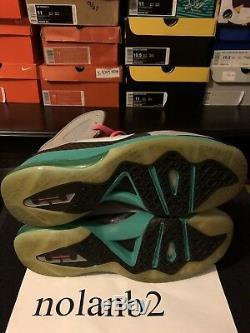 Nike Lebron IX 9 P. S. Elite South Beach size 10 Grey Black Pink Teal withbox
